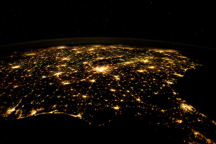Satellite Eye on Earth: US South at night