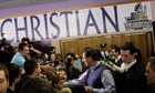 Rick Santorum visits students at the Dayton Christian School