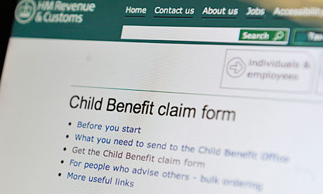 policy of cutting child benefit for families where a parent earns