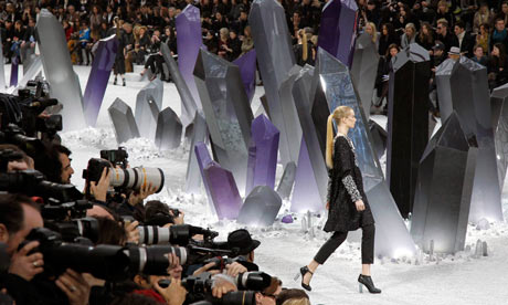 Chanel designer Karl Lagerfeld turned Paris's Grand Palais into Krypton