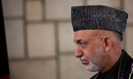 Afghanisan's president Hamid Karzai