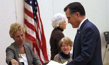 Mitt Romney in Belmont, Massachusetts