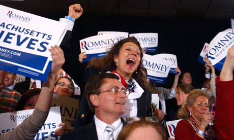Romney supporters in Boston