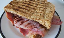 A bacon sarnie as imagined by Jamie Oliver