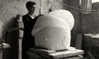 Louise Bourgeois working on Sleep II
