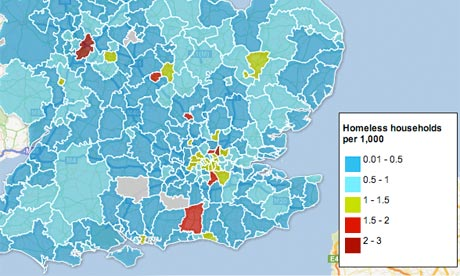 Homelessness interactive map