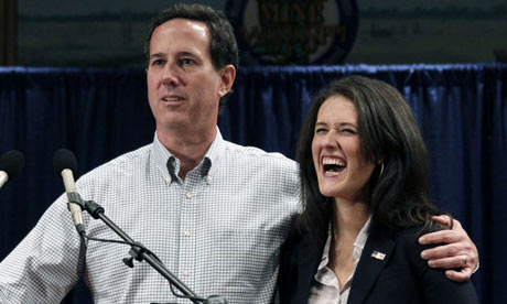 Rick Santorum and daughter Elizabeth