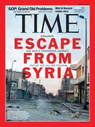 Time photographer tells of deaths in Syria and flight to safety