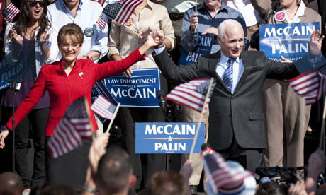 Julianne Moore and Ed Harris as Sarah Palin and John McCain in Game Change