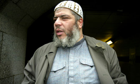 Abu Hamza, outside the Old Bailey