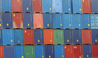 Containers at Southampton docks