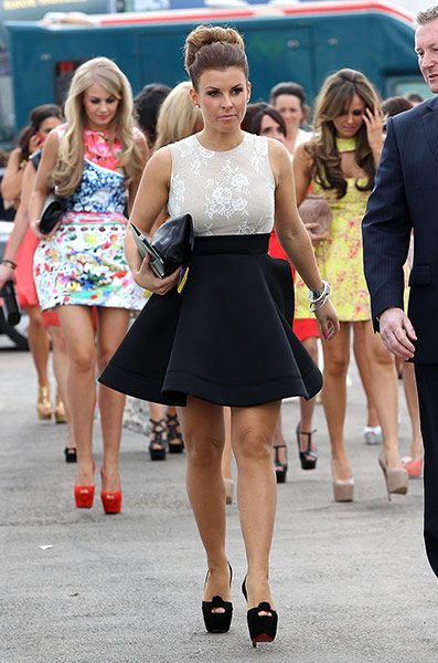 Coleen Rooney arrives in  001 What to Wear to the Races: Grand National