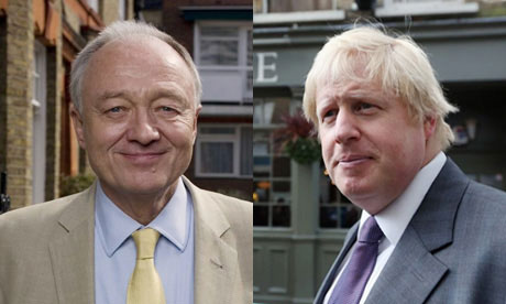 Mayoral candidates Ken Livingstone and Boris Johnson