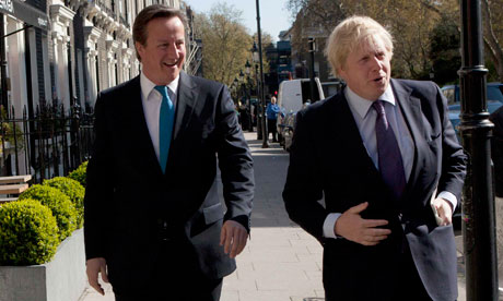 London mayor, Boris Johnson, who is leading Ken Livingstone in the latest pre-election poll