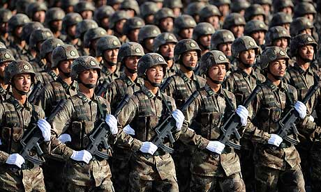 Soldiers from Chinese People's Liberation Army (PLA)