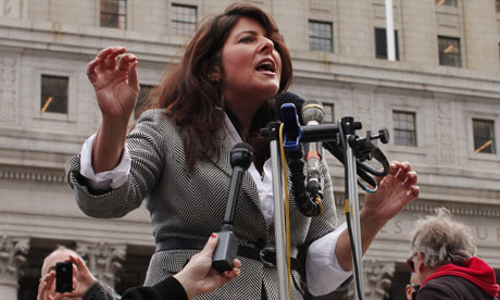 Political consultant Naomi Wolf speaks at a news conference in New York last month announcing a lawsuit against indefinite detention provisions in the National Defense Authorization Act. Photograph: viewpress Vp/Demotix/Corbis