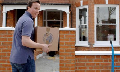 David Cameron moves house