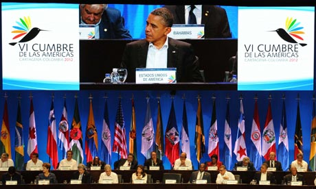 Barack Obama at the Summit of the Americas in Cartagena, Colombia