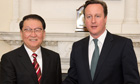 David Cameron with Li Changchun at No 10