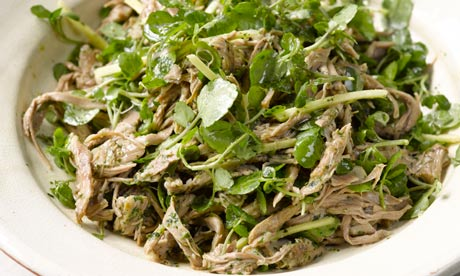 Shredded lamb shoulder with watercress and ginger recipe, plus ...