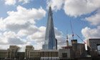 The Shard building in London