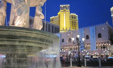 A fountain in Las Vegas