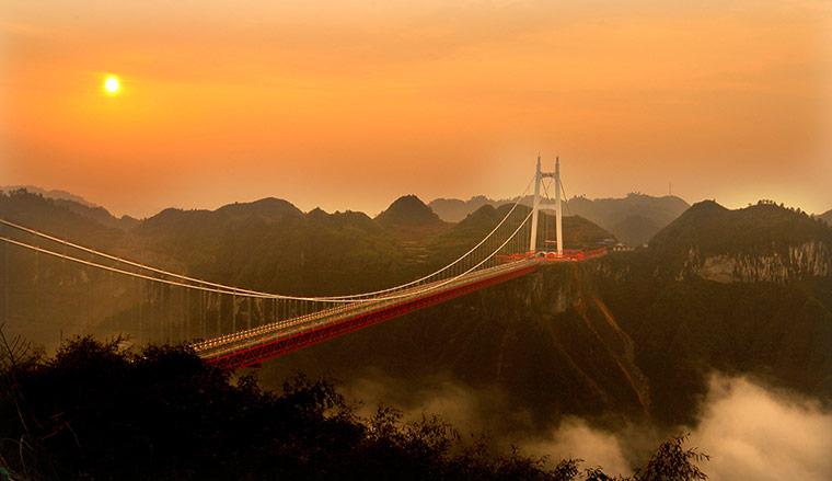 [原创] 高山深谷飞虹出 斜弯漂移矮寨桥(29P) - 路人@行者 - 路人@行者