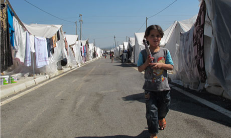 Syrian children in Altinözü refugee camp, Turkey