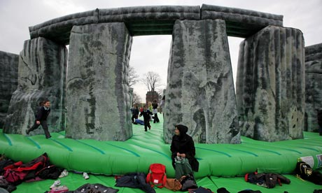 Jeremy Deller's Sacrilege, an inflatable model of Stonehenge