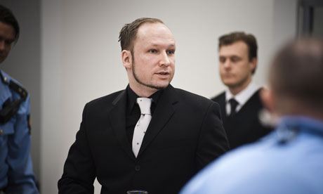 Anders Behring Breivik during his trial