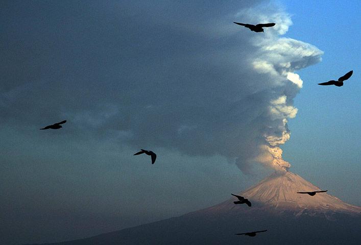 Popocatepetl volcano: Popocatepetl volcano