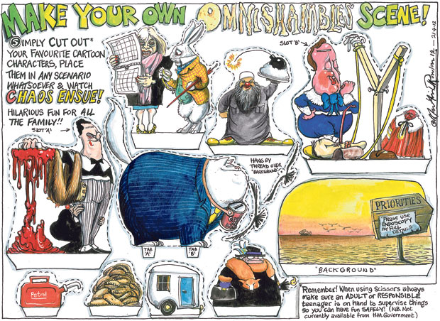 Martin Rowson on the recent troubles of the coalition government - cartoon