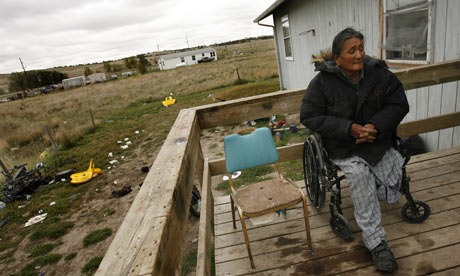 Many US Native Americans live in federally recognised tribal areas plagued with social problems