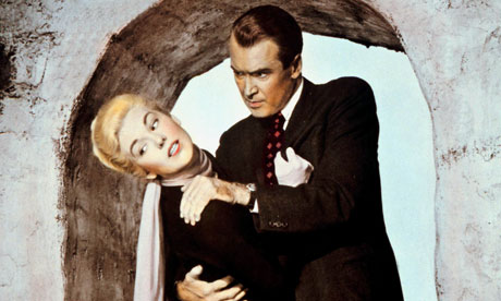 Kim Novak and James Stewart in Vertigo