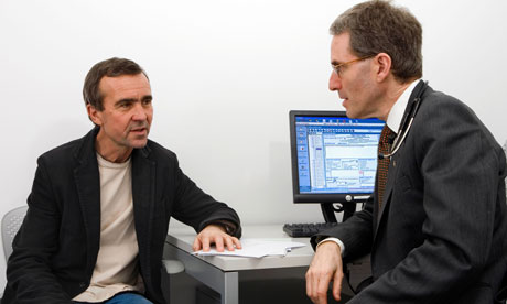 Consultation room Doctor Gp Man Medical Patient Uk