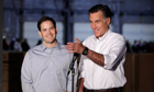 Marco Rubio and Mitt Romney at the campaign event in Pennsylvania