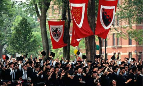 A graduation ceremony at Harvard University
