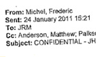 Email from Michel to Murdoch
