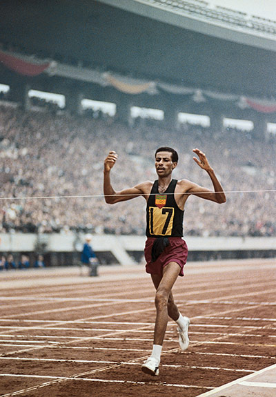 50 moments: Abebe Bikila Winning Second Olympic Marathon