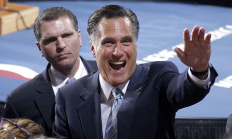 Mitt Romney greets supporters in New Hampshire