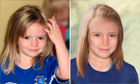 Composite image of Madeleine McCann