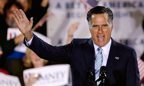 Mitt Romney addresses supporters in New Hampshire