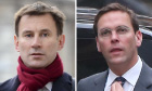 Jeremy Hunt and James Murdoch: same salon, fellas?