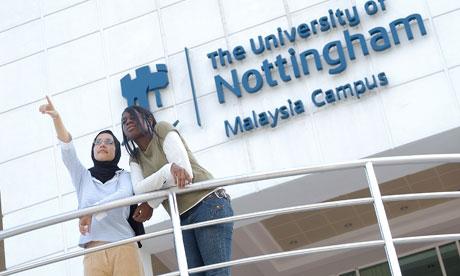 Students at Nottingham University, Malaysia Campus