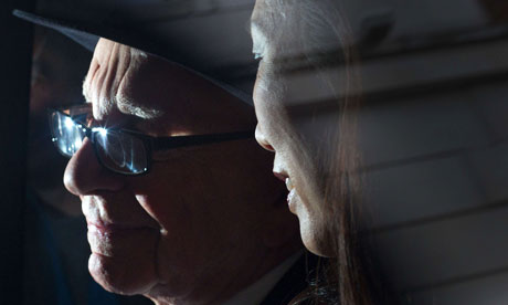 News Corp's Rupert Murdoch and his wife Wendi Deng leave the Leveson inquiry