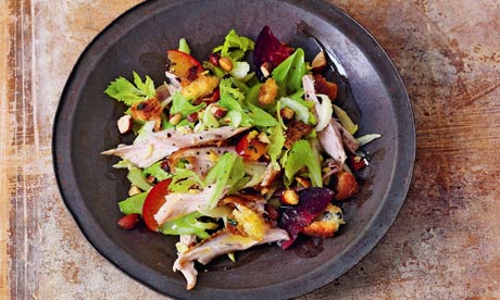 ... rabbit, sliced plum, smoked almond and shaved celery salad recipe