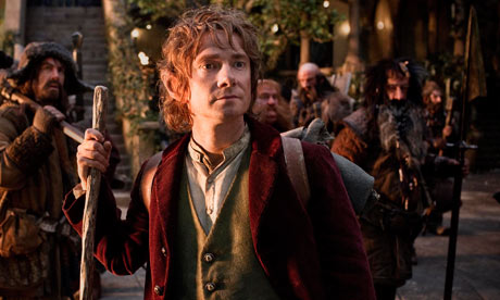 Looking a little grainy, Bilbo … Martin Freeman in The Hobbit.