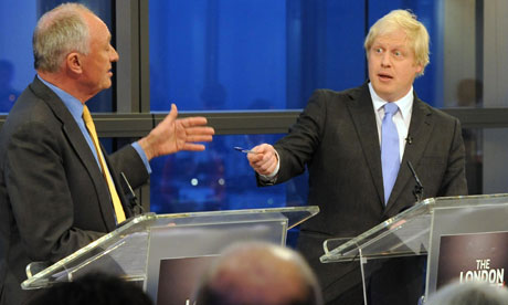 Ken Livingstone and Boris Johnson 19/4/12