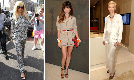 Rihanna, Lou Doillon and Tilda Swinton in pyjama style trend
