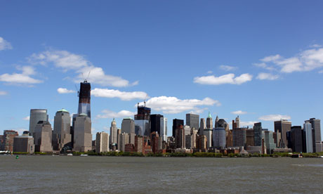 One World Trade Center in New York on 27 April 2012.